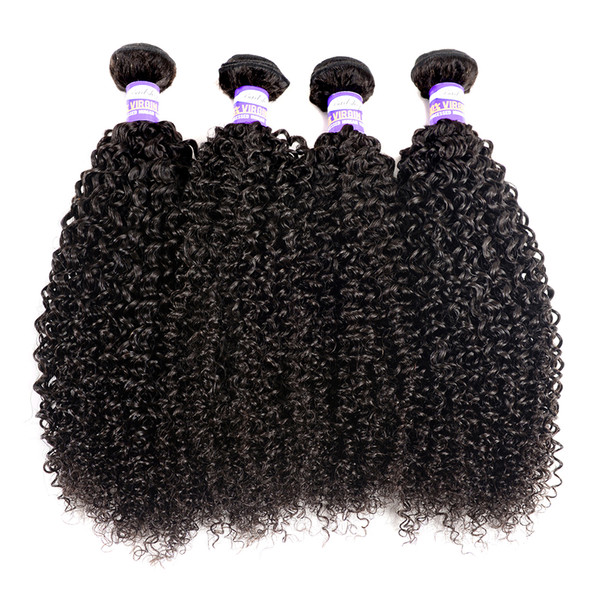 top popular 9A Brazilian Human Hair Kinky Curly Virgin Hair 3 4 Bundles Kinky Curly Human Hair Extensions 2021