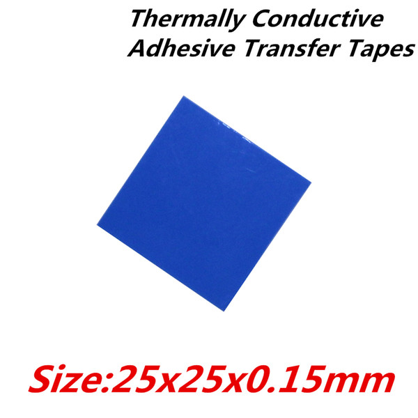 Wholesale- 40pcs/lot 25x25mm Thermally Conductive Adhesive Transfer Tapes thermal pad double sided tape for heatsink radiator