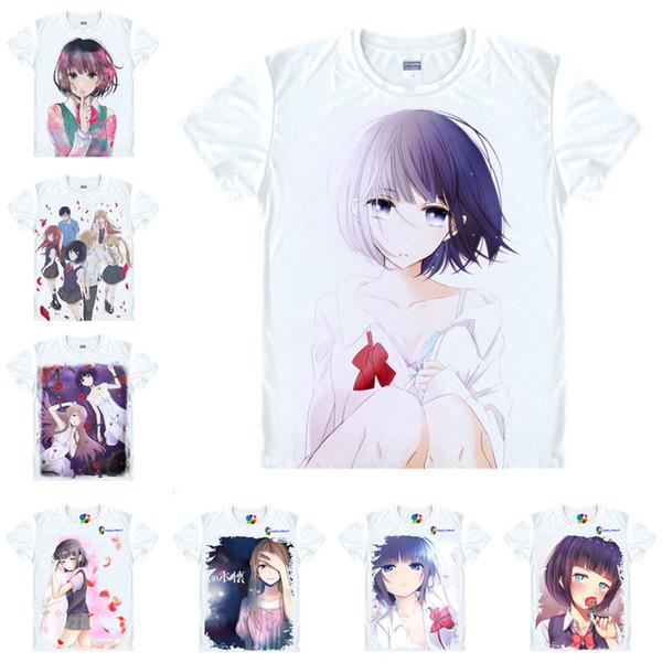 Anime Shirt Scums Wish T-Shirts Multi-style Short Sleeve Hanabi Yasuraoka Kuzu no Honkai Cosplay Motivs Hentai Shirts