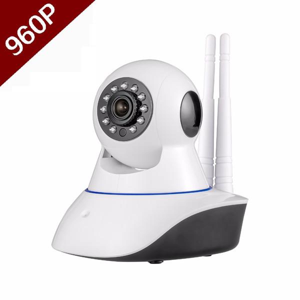 Double antenna Camera wireless IP camera WIFI Megapixel 960p HD indoor Wireless Digital Security CCTV IP Camera + 8G TF memory card MOQ;1PCS