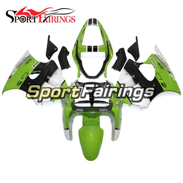 Injection Fairings For Kawasaki ZX6R ZX-6R Year 00 01 02 2000 - 2002 Sportbike ABS Motorcycle Fairing Kit Bodywork Fairing Green White Black