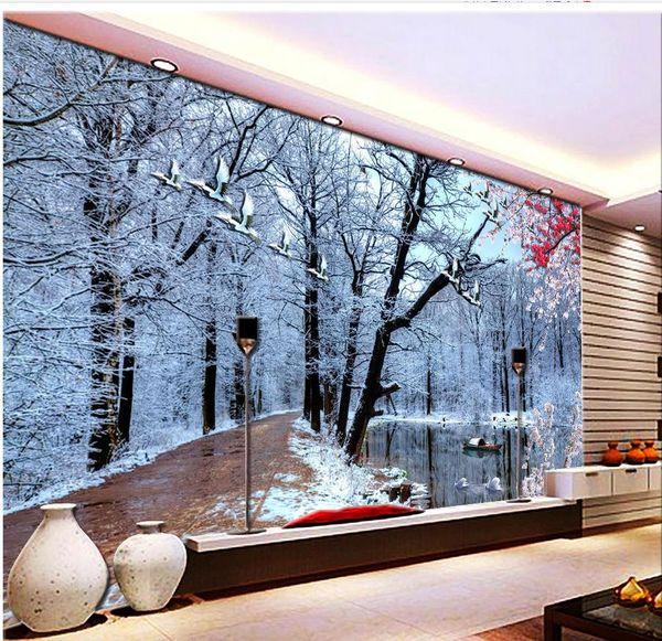 Großhandel 3D Waldschneeszene Wohnzimmer TV Wand 3D Waldschneeszene  Wohnzimmer TV Wand Von Yiwuwallpaper, $17.09 Auf De.Dhgate.Com | Dhgate