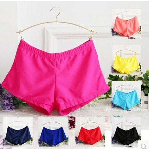 Yeni Kadın Bayanlar Swim Şort Yoga Salonu Yüzme Sandıklar Boxer Şort Mayo 8 renk 5 boyutu
