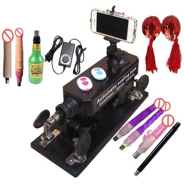 Making Love Machine with Bluetooth Photograph and Video Swept,Powerful Motor Quiet Machine Sex Toys For Man And Woman Sex Machine Gun Set
