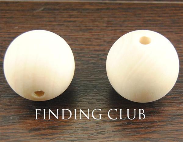 free shiping! 3 pcs Natural round Wood Spacer Beads Pendants Connectors diy handmade - No Varnish&No Lacquer 35mm WB26