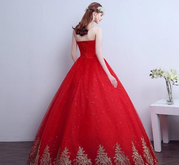 Vintage Lace Red Wedding Dresses 2017 Free Shipping Vintage Lace Red Wedding Dresses Long Train Plus Size Ball Gown Robe de Mariee Cheap