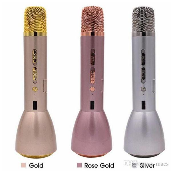 Best Offer Magic Karaoke K088 Wireless Microphone handheld Bluetooth Speaker Micro phone kids adult christmas karaoke Mic for Smartphone