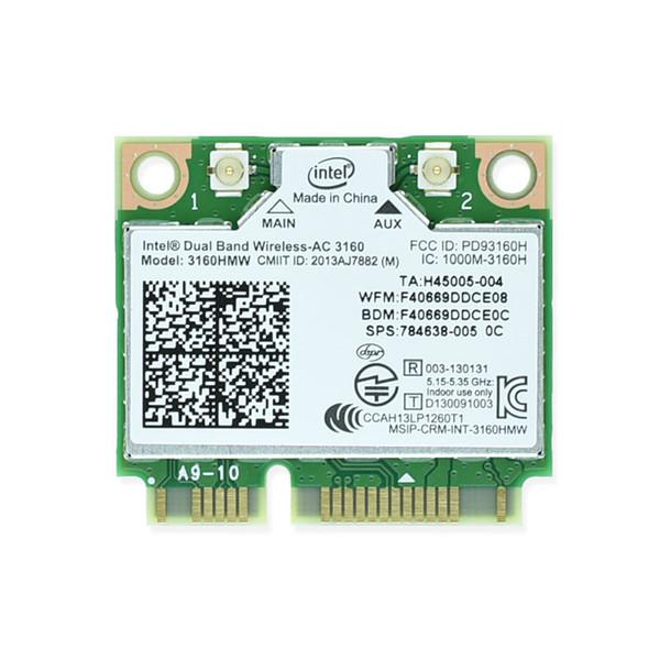 Wholesale- Brand new für Intel Dualband Wireless-AC 3160 Intel3160 3160HMW 3160AC 2,45 g BT4.0 MiniPCIe WiFi WLAN-Karte