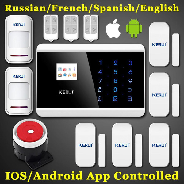 LS111- KERUI Android IOS App Touch Screen Keypad+LCD display 99 Wireless Zone GSM PSTN Home/house Security Burglar Voice Alarm System