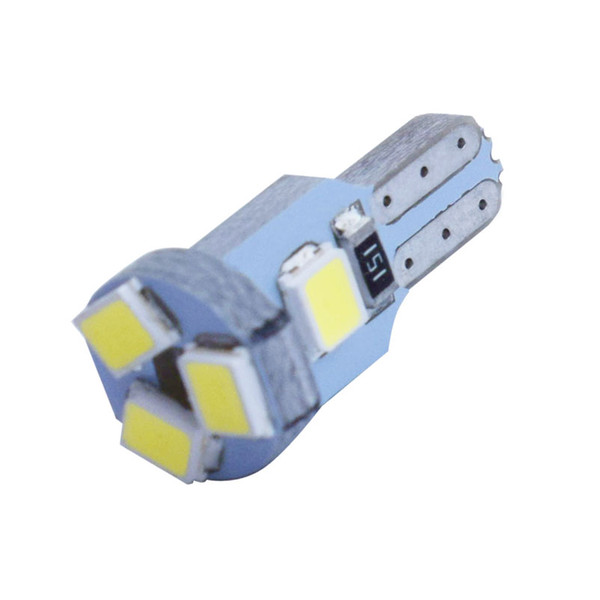 Super Bright T5 W3W W1.2W 509T 74 86 Auto Lamps 5SMD 5 LED Car Dashboard warming indicator Wedge Bulb Instrument light White 12V