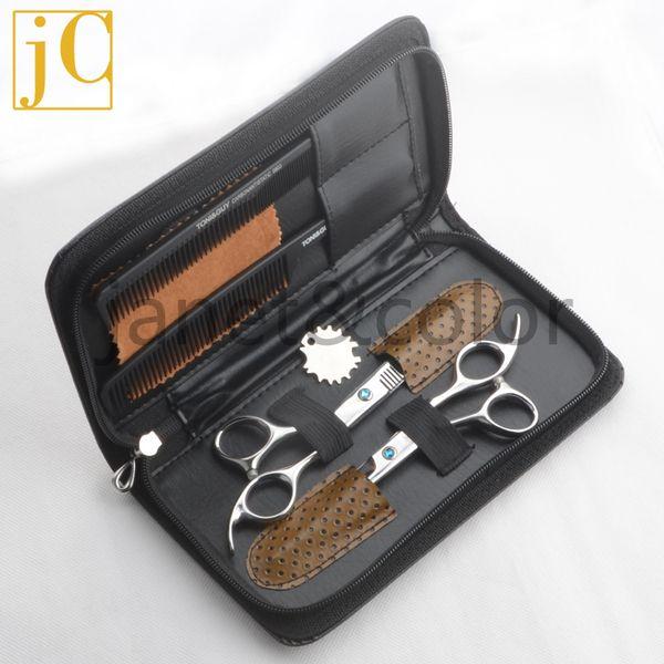 Toptan Satış - Toptan - Saç Kesme Makas / Saç Makası kitleri / Berber Makas / Kuaförlük Makas seti J2 taraklar + durumda paslanmaz çelik