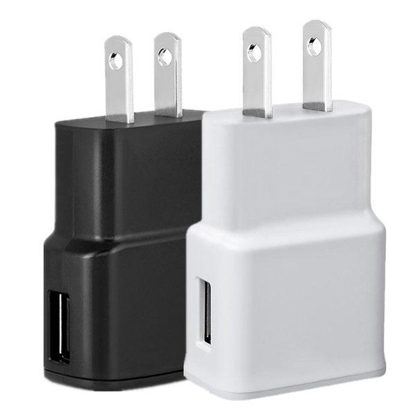 5V 2A 5V 1A (Baskı 2A) ABD AB Tak AC ev duvarı şarj cihazı samsung s4 için güç adaptörü s6 note 2 4 for iphone 5 6 7 mp3 gps