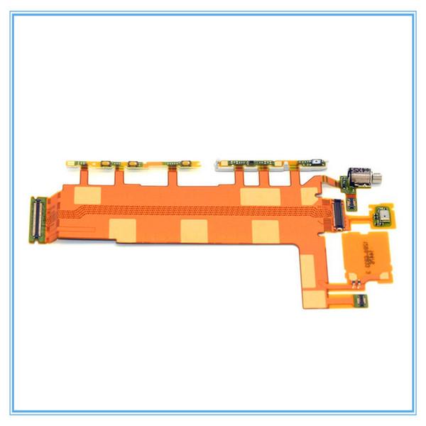 Güç Sony Xperia Z Z1 L39h Z2 D6502 D6503 Z3 D6603 D6653 Anakart Mikrofon Düğmeler için / Kapama Ses Düğmesi Anahtarı Flex Kablo üzerinde