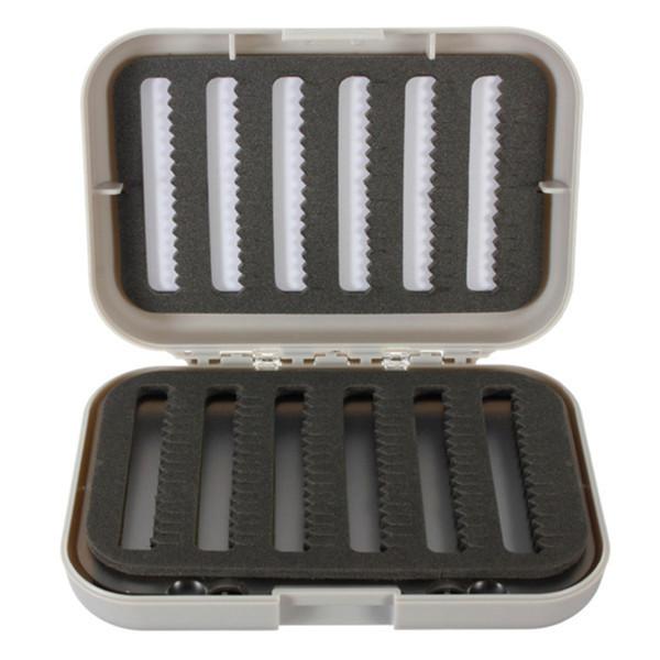 Wholesale- Double Sides Fly Fishing Box Fishing Lure Baits Hooks Tackle Box Storage Case Tool