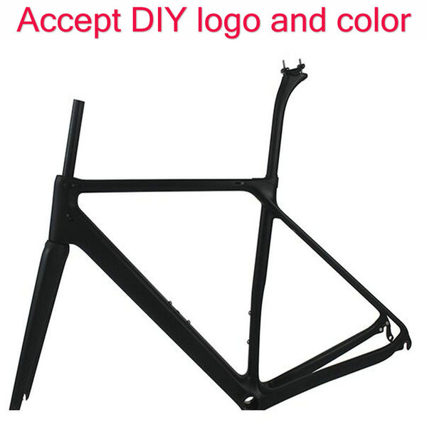 T1100 white road bike carbon frame 1k /3k bicycle carbon bike frameset 165/169/170/905/906 color fremseet made in china free shipping