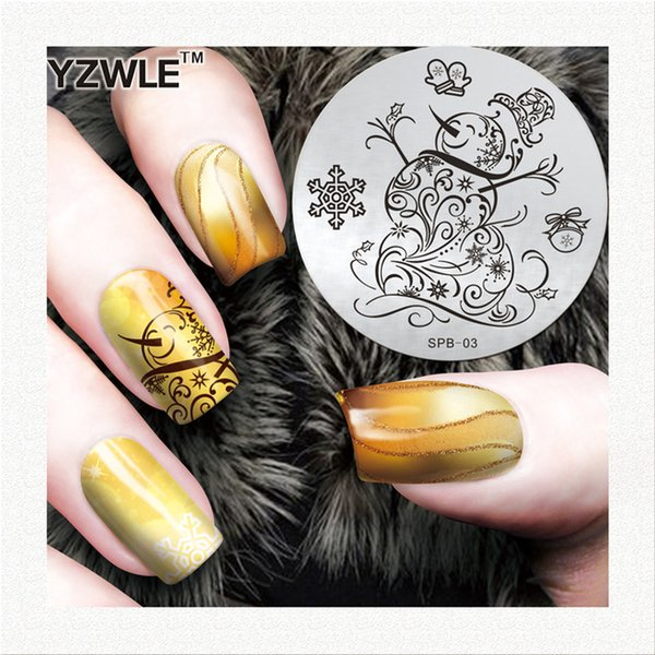 Wholesale- YZWLE factory price retail 2016 designs template fashion nail art stainless steel stamp image plate for girl manicure salon