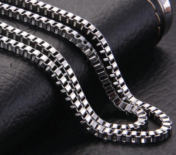 2017 yeni stil toplu bling 10 metre Lot Moda Gümüş Tone Paslanmaz çelik Takı Bulma 3mm geniş kare kutu link zinciri DIY TAKı