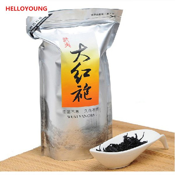 250g Chinese Organic Black Tea Big Red Robe Oolong Red Tea Healthy New Cooked Tea Green Food Factory Direct Sales Sealing strip packaging