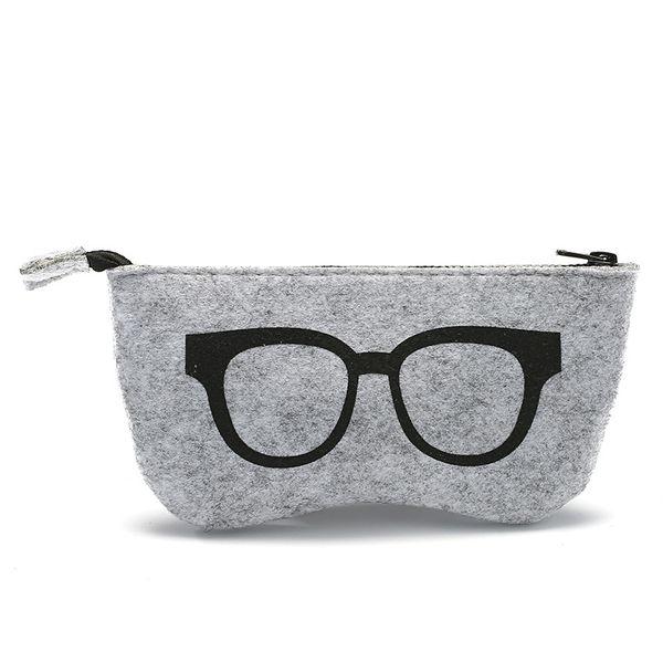 top popular New Glasses Case Wool Felt Women Men Sunglasses Cases Box Fashion Zipper Eyeglasses Case Multi-purpose Felt Bag Colorful Wholesale 100PCS 2021