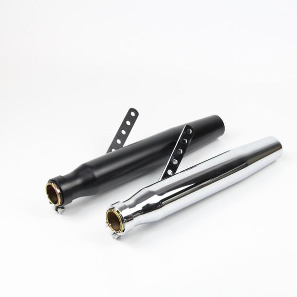 Length 420 mm Universal Motorcycle Exhaust Pipe Tail Pipe Slip On Dirt Street Bike Motorcycle Diameter 49 mm
