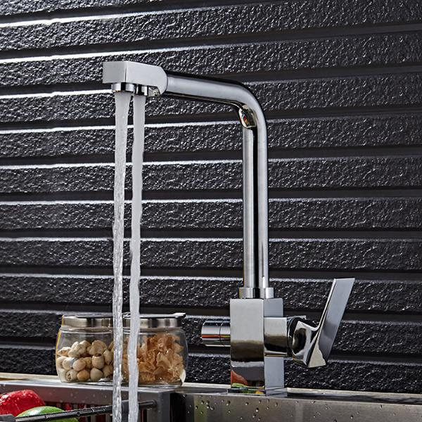 Free shipping Senducs Filter kitchen sink faucet with solid brass kitchen faucet and black kitchen filter mixer tap