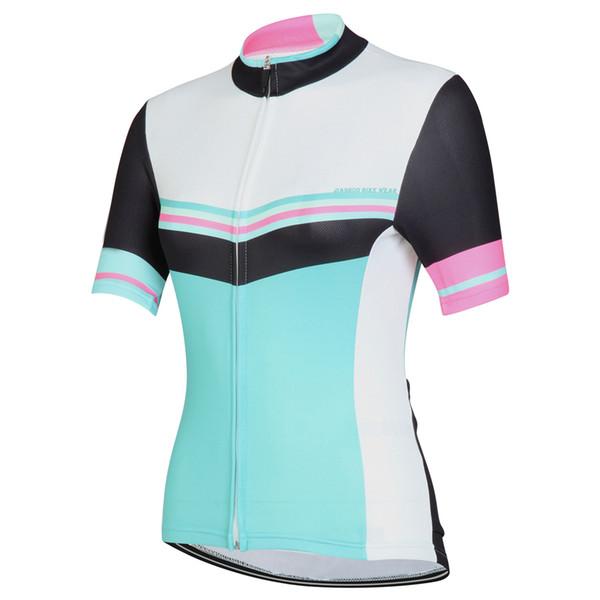 NUEVO Personalizado Mujeres Caliente 2017 JIASHUO Verde Blanco mtb road RACING Equipo Bike Pro Ciclismo Jersey / Camisas Tops Ropa Respirando Aire