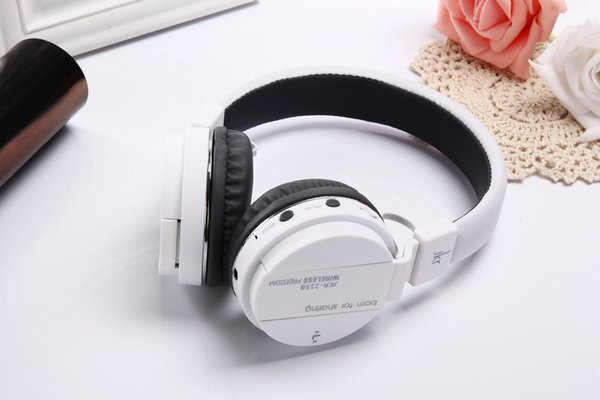 JKR-215B Bluetooth Earphones Headphones Headsets 3 in 1 Function With Mic MP3 FM TF Card Slot For iOS Android MP3 MP4 PC