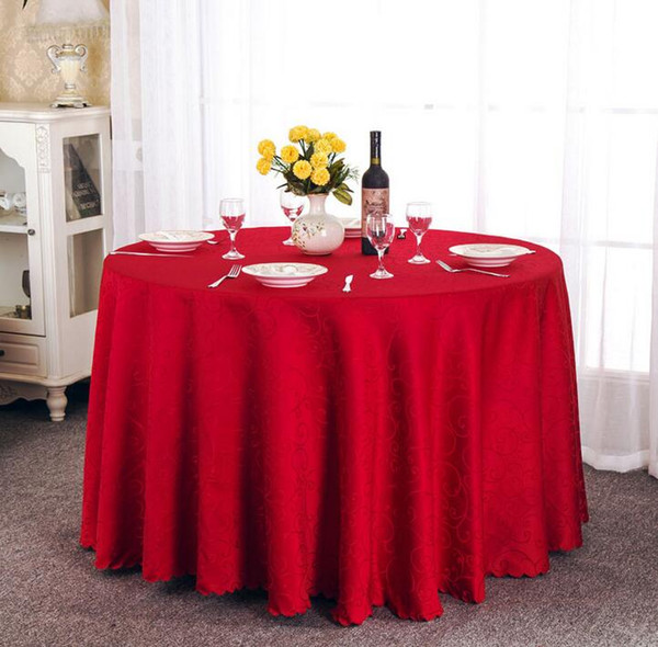 top popular Table cloth Table Cover round for Banquet Wedding Party Decoration Tables Satin Fabric Table Clothing Wedding Tablecloth Home Textile WT021 2020