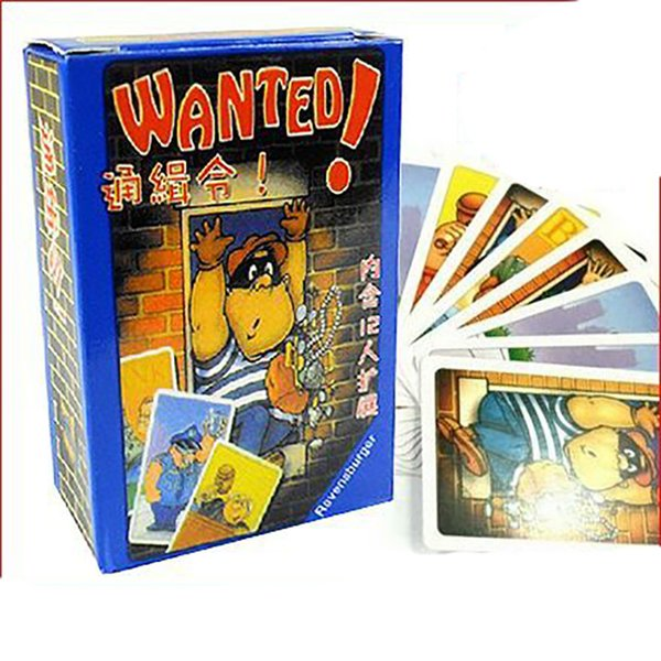 Wanted Card Game 3-5 Players Family Small Size Board Games Easy To Play,Funny Games