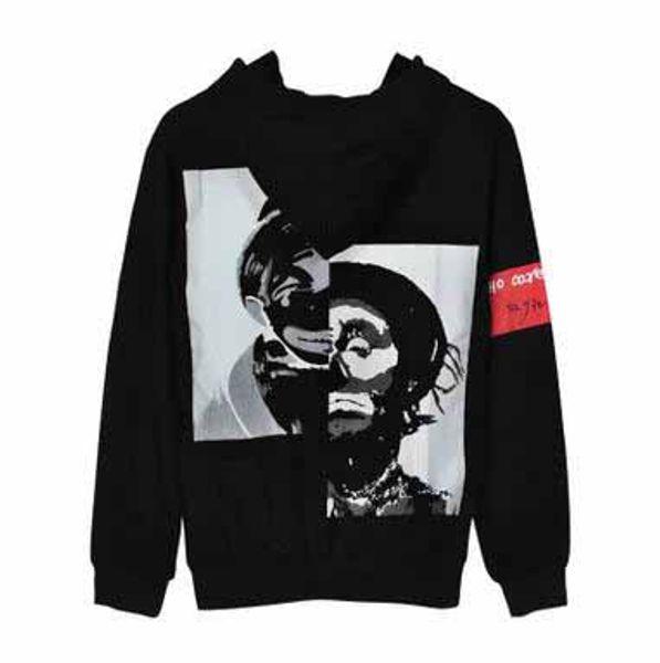Newest Design Men's Brand Hoodies Hiphop Tide Clown Printed Black Hooded Sweatshirts Lovers Slim Pullover Hoodies Coats Free Shipping