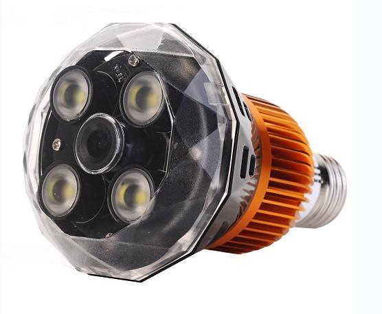 E27 LED Globe Bulbs with WIFI CCTV Camera 1080P and Aluminium Radiator and Clear PC Cover