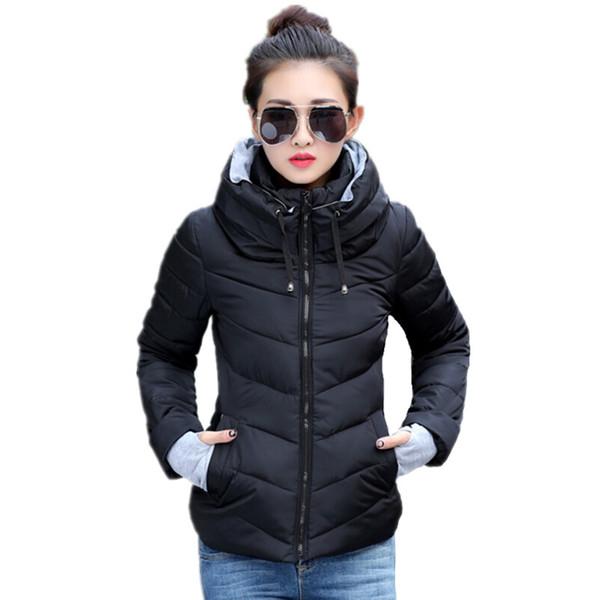 top popular 2016 New women plus size long sleeve warm light down padded winter jacket women parkas for women winter coat fashion jacket 2019