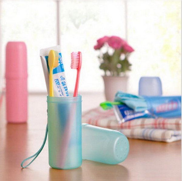 top popular new bathroom accessories cute candy color travel camp portable hotel plastic towels toothpaste tothbrush boxes holders storage cup 2021