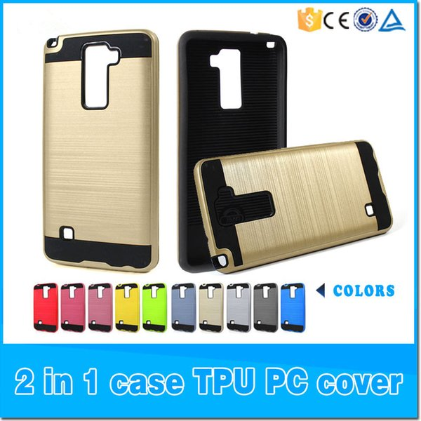 Armor Case Hybrid Brushed For Alcatel A30 Fierce 2017 Metropcs For ZTE Blade Z Max Z982 Metropcs For Samsung Note 8 iphone X