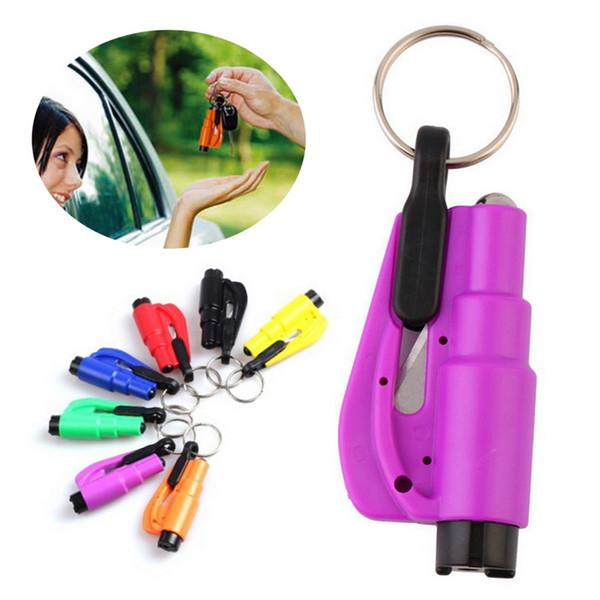 100pcs 3 in 1 Emergency Mini Safety Hammer Auto Car Window Glass Breaker Seat Belt Cutter Rescue Hammer Car Life-saving Escape Tool
