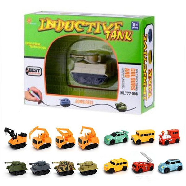 best selling Mini Magic Pen Inductive Fangle Vechicle Toy Children's Car Truck Tank Car Toy Factory Direct shipping