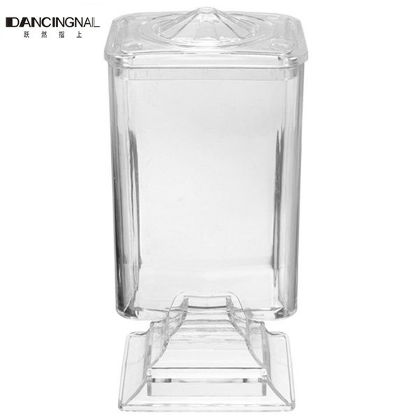 Wholesale- Pro Fashion Nail Art Makeup Wipe Holder Case Container Acrylic Plastic Bos For Polish Remover Cotton Pad Paper Free Shipping