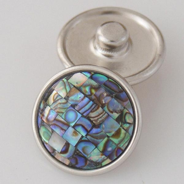 Partnerbeads Snaps Button 18mm shell Noosa Chunks For Ginger Snaps jewelry Fit Noosa Chunks Jewelry KB2801-AJ