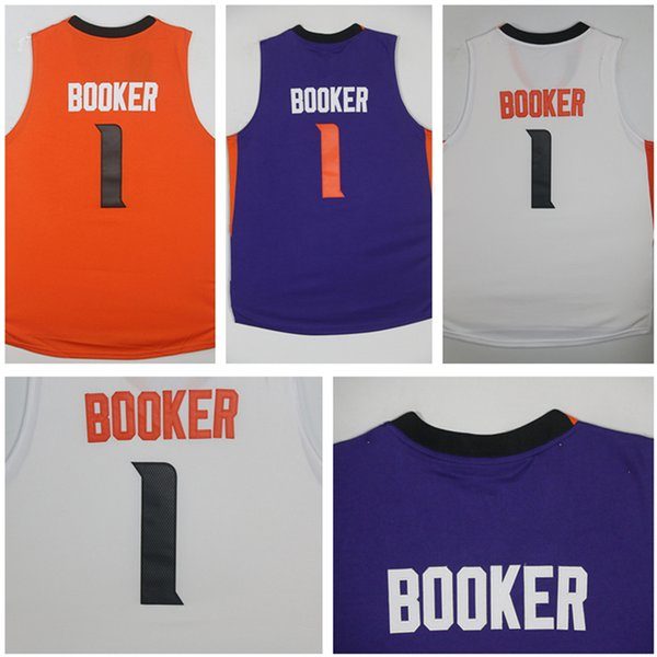 new product b18aa e7120 2017 2017 New Arrival #1 Devin Booker Jersey Purple/Orange/White High  Quality Embroidery Men'S Booker Jersey From Lizw33, $14.08 | Dhgate.Com