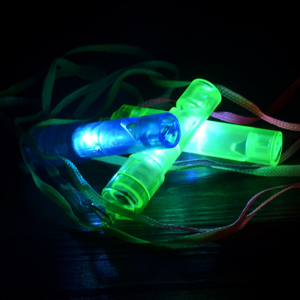 Manufacturers selling new LED children's toy whistle light luminous square hot night whistle