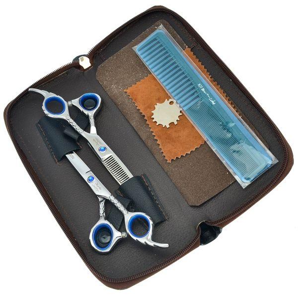 6.0Inch Jason 2017 New Hot Selling Hair Scissors Set Kit Professional Hair Cutting Thinning Shears Sharp Hairdressing Scissors, LZS0729