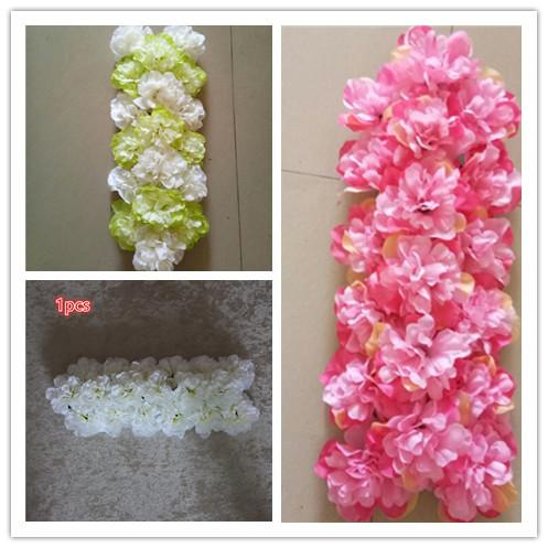The simulation dahlia row is suitable for the wedding backdrop stage and home decoration 10pcs/lot