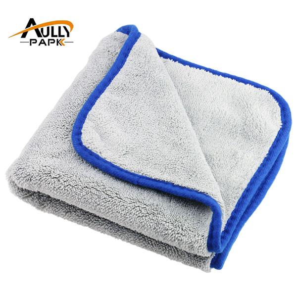 Wholesale- 40cmx40cm 800gsm Super Thick Plush Microfiber Car Cleaning Cloths Car Care Microfibre Wax Polishing Detailing Towels