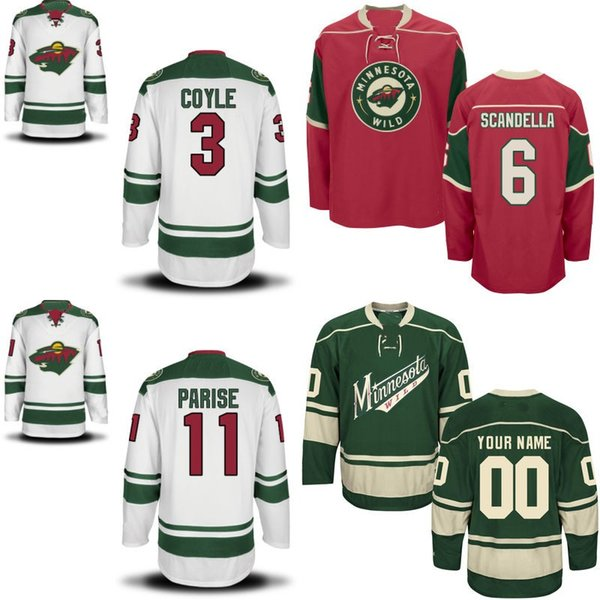 Mens Minnesota Wild Custom Jersey 11 Zach Parise 56 Erik Haula 20 Ryan Suter 64 Mikael Granlund 7 Chris Stewart 100% Stitched Hockey Jerseys