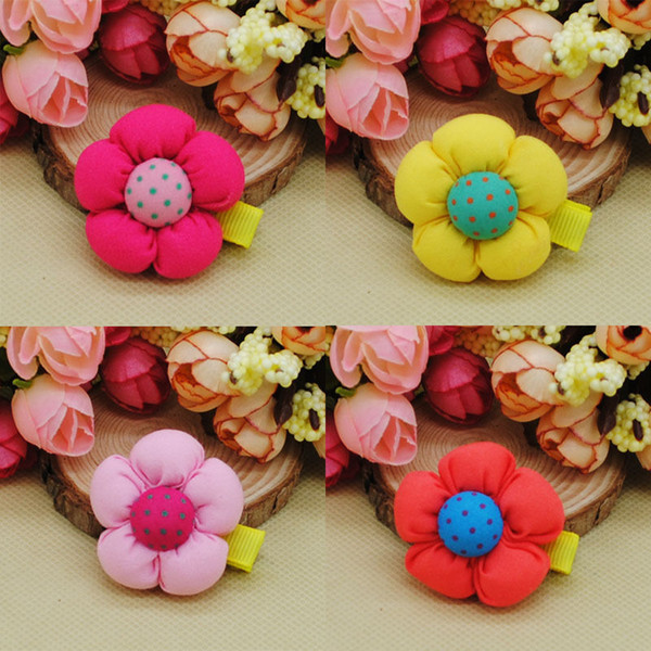 30PCS/lot Handmade Dog Bow Hair Little Flower Puppy Bows Hair Clips For Dogs Pet Grooming Bowknot lot Accessories Hairpins Products PD042
