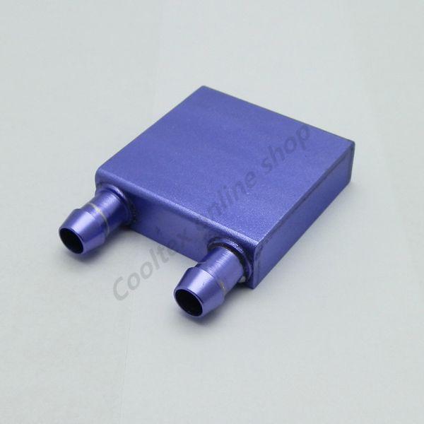 Wholesale- (Special offer) Aluminum Water Cooling Block 40x40x12mm Liquid Cooler Waterblock radiator for GPU CPU cooling
