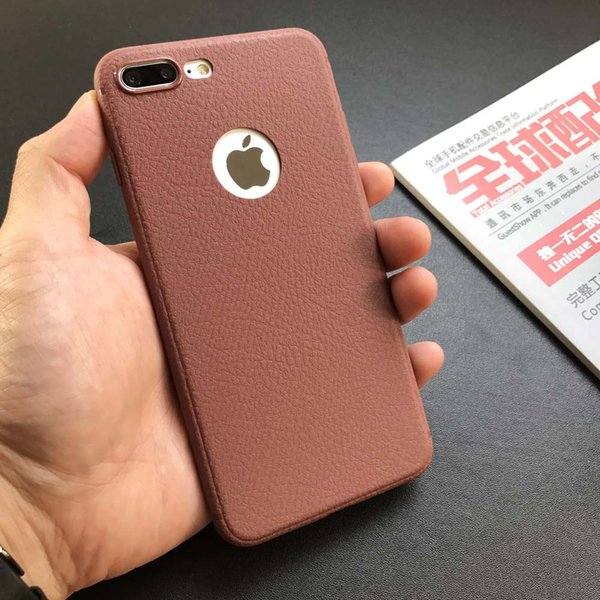 New Simple Litchi Pattern For IPhone7/6s Protective Case Ultra Thin Soft  Case Solid Color With Retail Bag DHL Customized Cell Phone Cases Best Cell