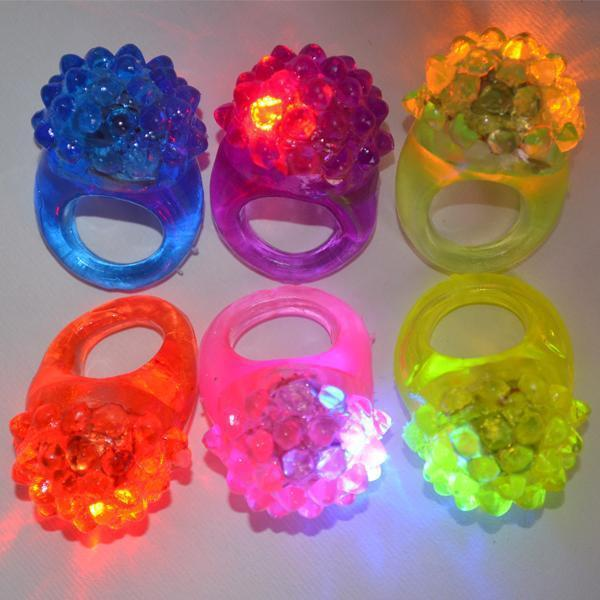 2017 Party Wedding,Fashion Cute Strawberry Finger beams LED Party Glow Light Ring Torch Hot Selling for Holiday 1000pcs