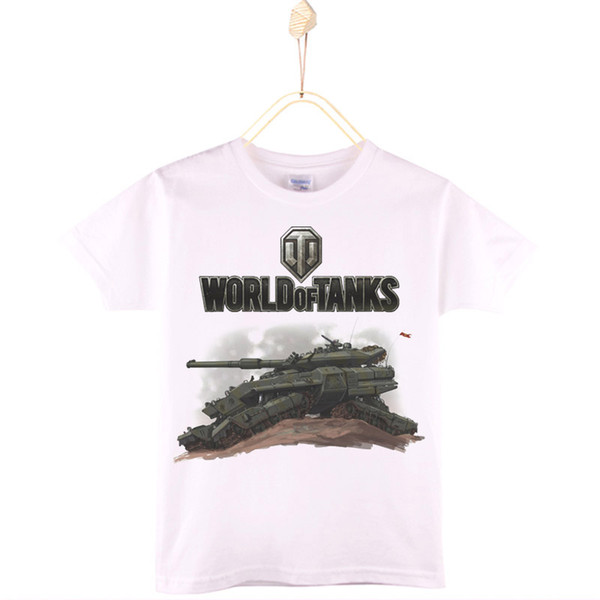 2017 New Arrival Boys T-shirt World Of Tanks Cartoon 100% Cotton Children T Shirts Girls Tops Baby Tshirt Kids Clothing 4T-12T