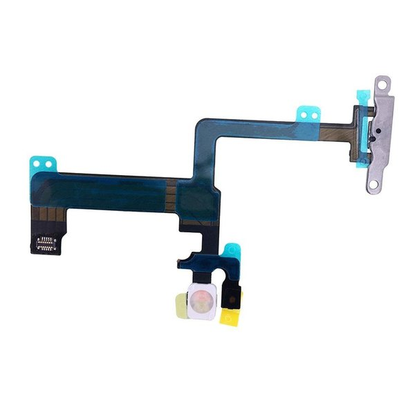 Joemel for Iphone 6 plus 5.5 Power Button On / Off Switch Flash Light Mic Flex Cable Replacment Part with Brackets Pre-installed Part